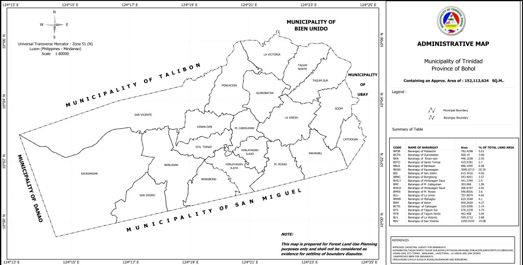 Trinidad Administrative Map